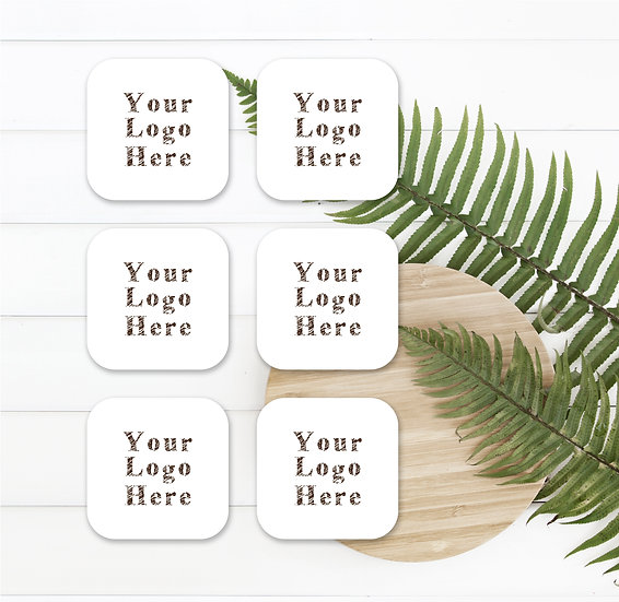 Personalised Custom Rounded Square Logo Stickers