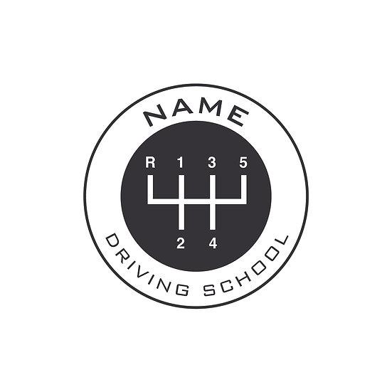 Logo Design: Car Gear Driving School Company Logo