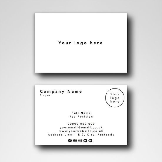 Business Card Design: Blank Template Design