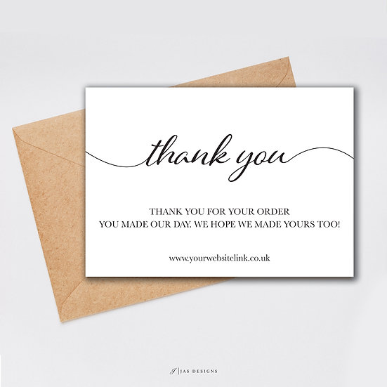 Thank You Card Design: Thank You Single Sided Cards