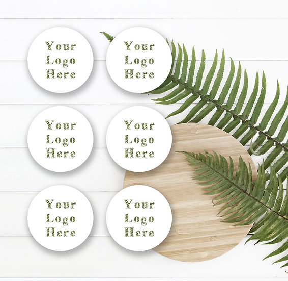 Personalised Custom Round Logo Stickers