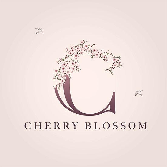 Logo Design: Cherry Blossom Floral Logo