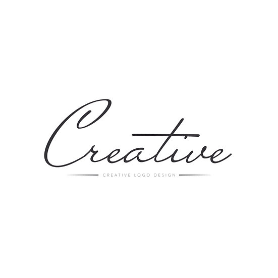 Logo Design: Creative Script Font with Line Company Logo