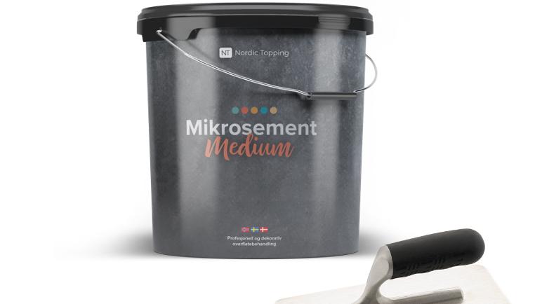 Mikrosement KIT til vegg m/ verktøy. Gratis frakt