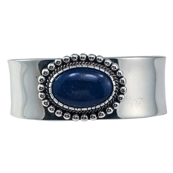 Lapis and Silver Bracelet by Calvin Nelson