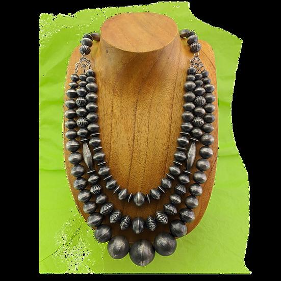 Virginia Tso Silver Beads