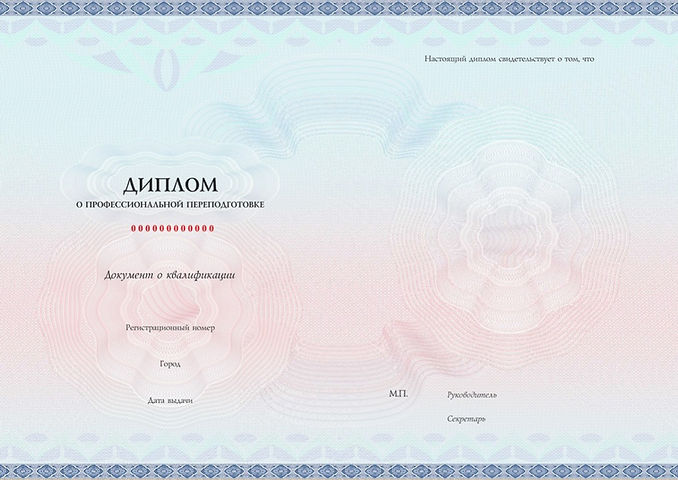 Диплом о професиональной переподготовке