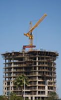 Building being constructed