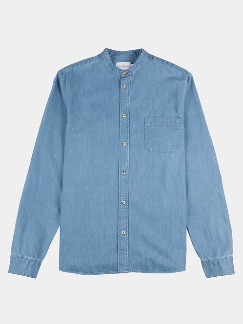 Cuisse de Grenouille Denim Mao Collar shirt