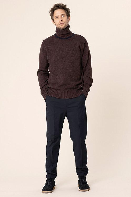 Harris Wilson navy cold wool trousers