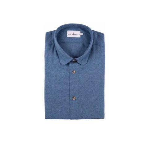 Cuisse de Grenouille Blue Flannel shirt