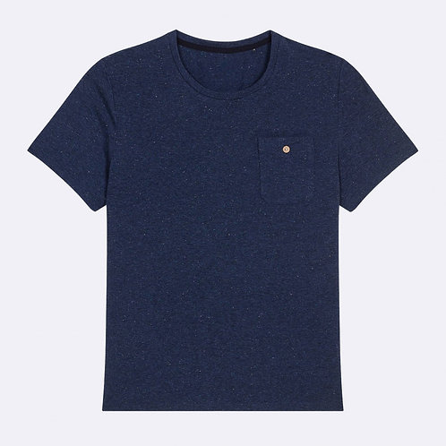 Faguo blue t-shirt with pocket