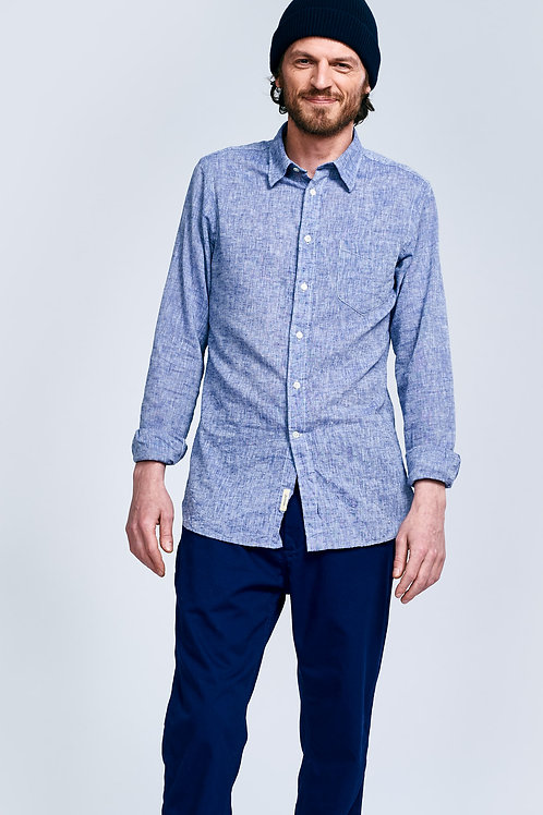 Bellerose blue linen shirt