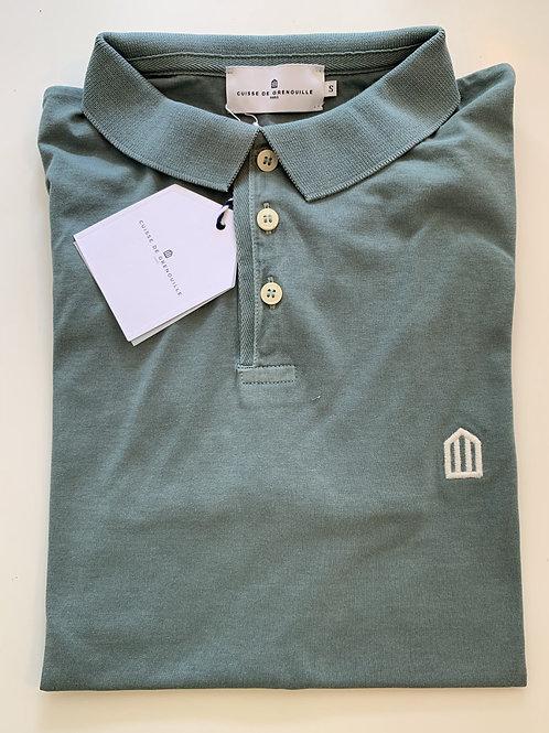 Cuisse de Grenouille smooth kaki polo T shirt