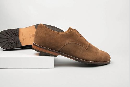 Bobbies le Detective Brun Havane Suede leather shoes