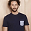 Thumbnail: Harris Wilson Dark Navy T shirt with pocket on the chest