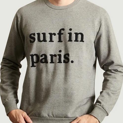 Cuisse de Grenouille Grey SURF IN PARIS Sweatshirt