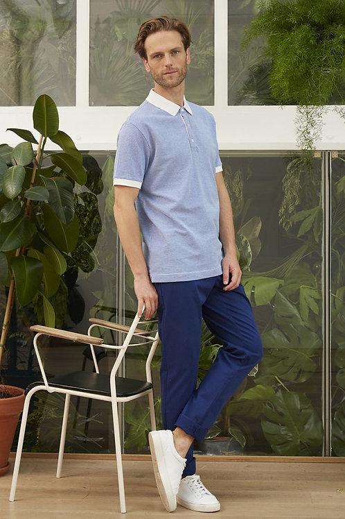 Harris Wilson White and Blue Polo Tshirt