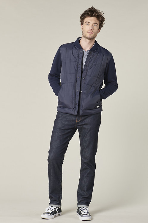 Harris Wilson Navy quilted Cardigan