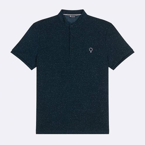 Faguo blue officer collar polo shirt