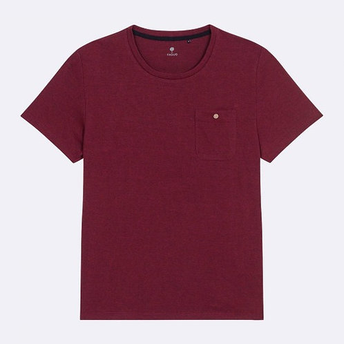 Faguo brugundy t-shirt with pocket