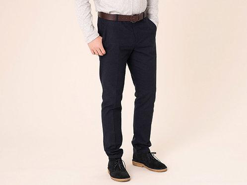 Harris wilson cotton dark navy italian flannel trousers
