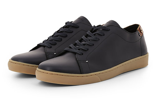Faguo Aspen Low black leather sneakers
