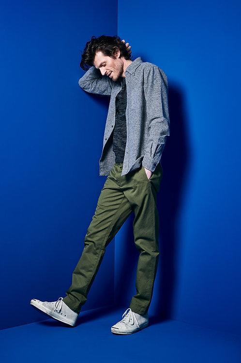 Bellerose kaki chino trousers