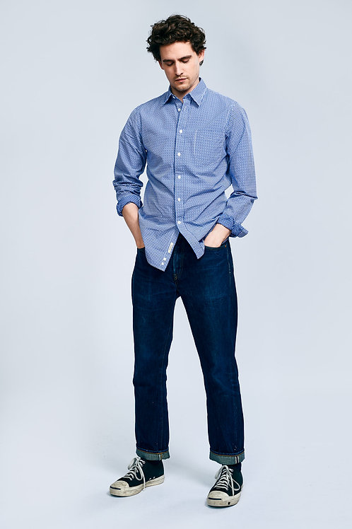Bellerose navy and white vichy shirt