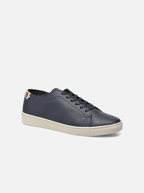 Faguo Aspen Low Navy leather sneakers