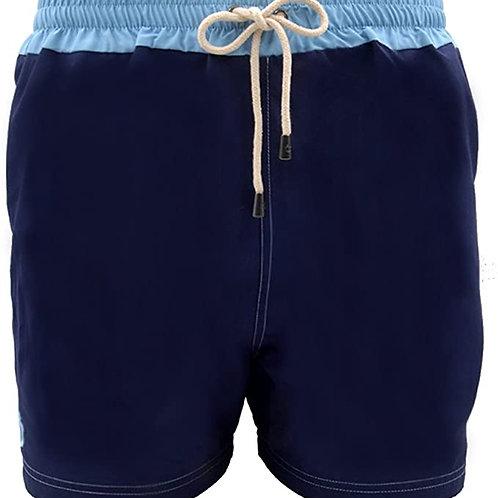Dagobear Navy Blue Swimsuit with light blue belt