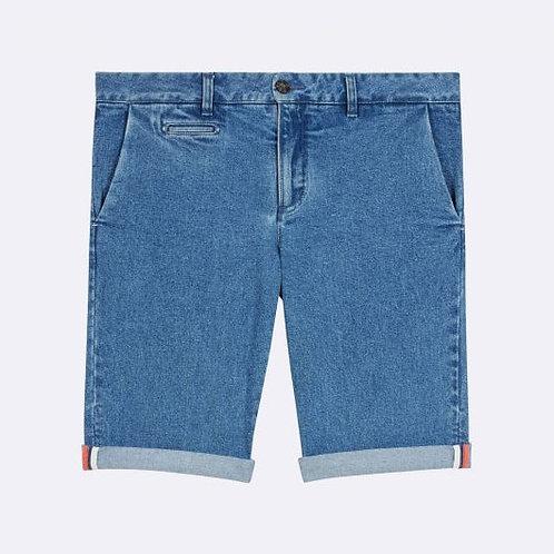 Faguo Light denim cotton shorts