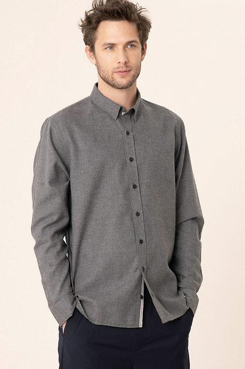 Harris Wilson grey cotton Flannel shirt