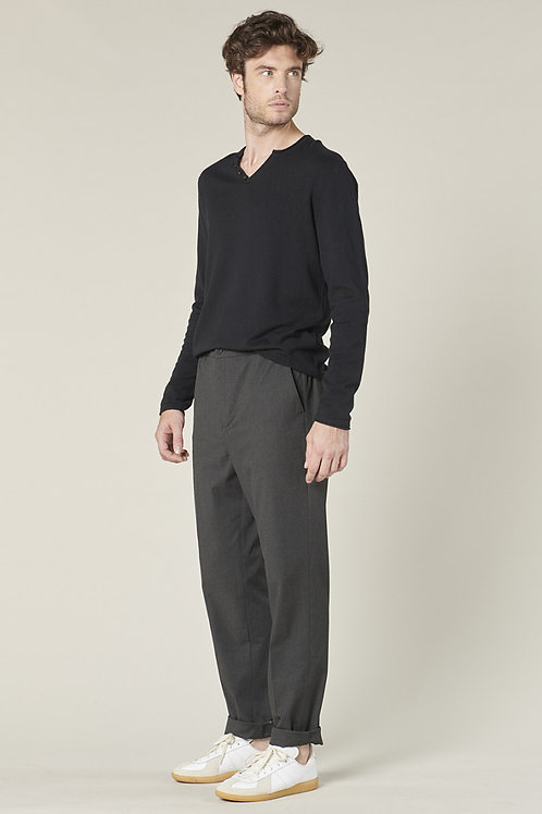 Harris Wilson grey flannel trousers