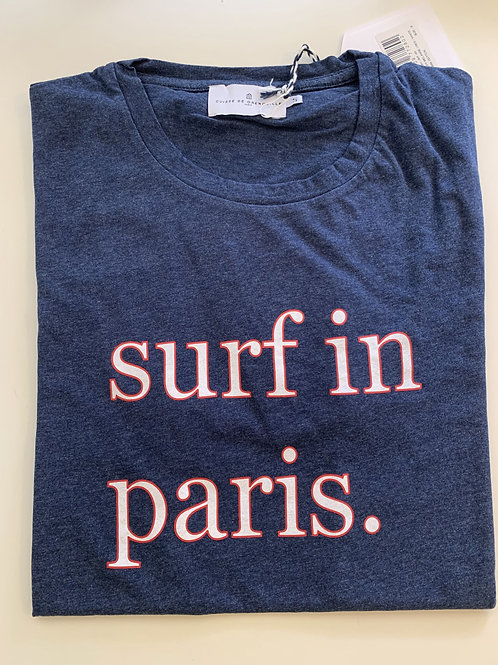 Cuisse de Grenouille navy blue SURF IN PARIS Tshirt