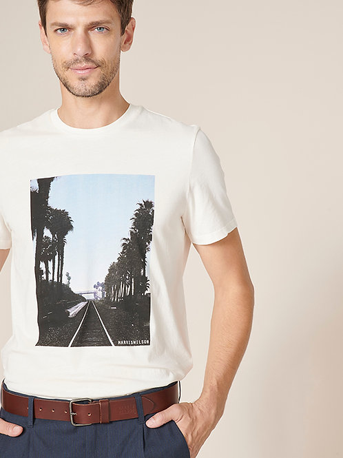 Harris Wilson off-white printed tshirt