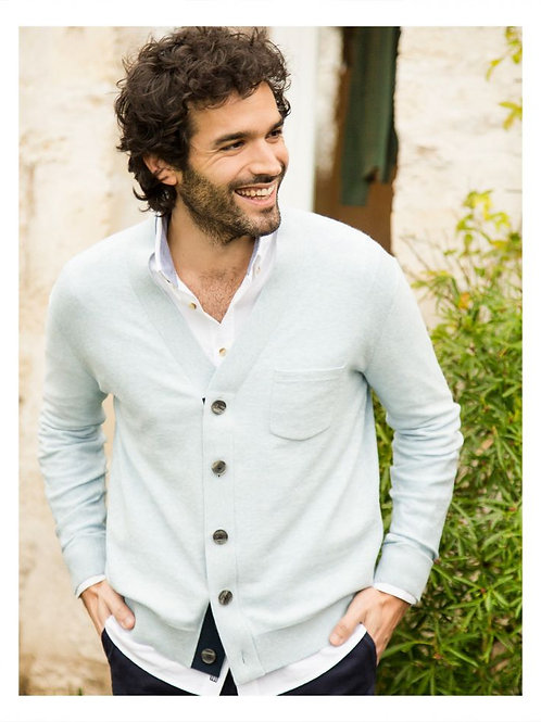 Cuisse de Grenouille Light blue Cardigan