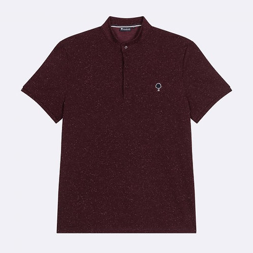 Faguo brugundy officer collar polo shirt
