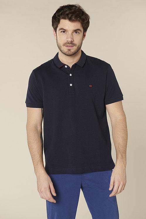 Harris Wilson Navy Cotton Polo Tshirt
