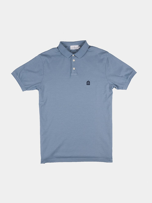 Cuisse de Grenouille blue denim polo T shirt