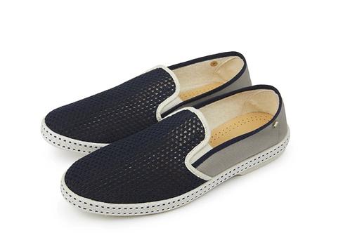 Rivieras Grey and Navy Vajoliroja canvas shoes