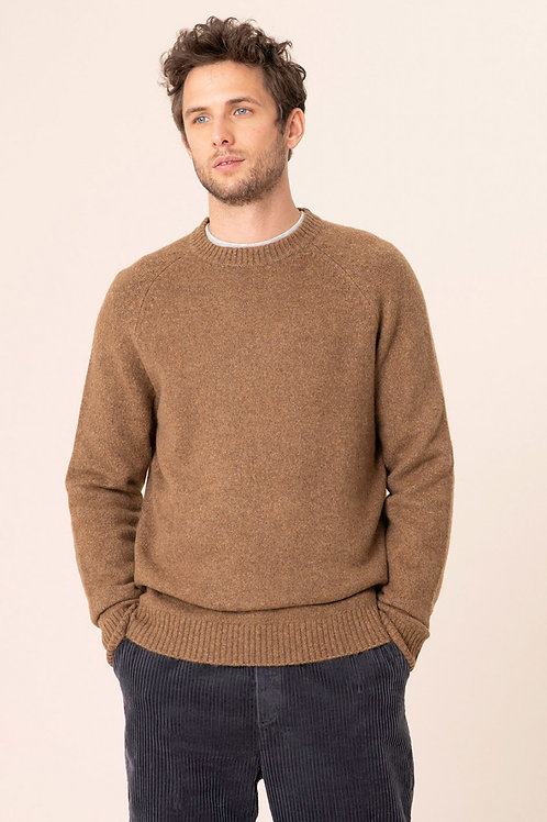 Harris Wilson camel brown sweater
