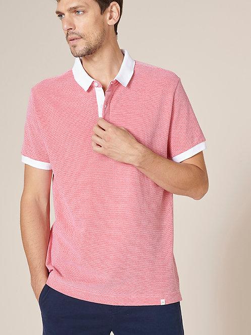 Harris Wilson Red & White Polo T-shirt