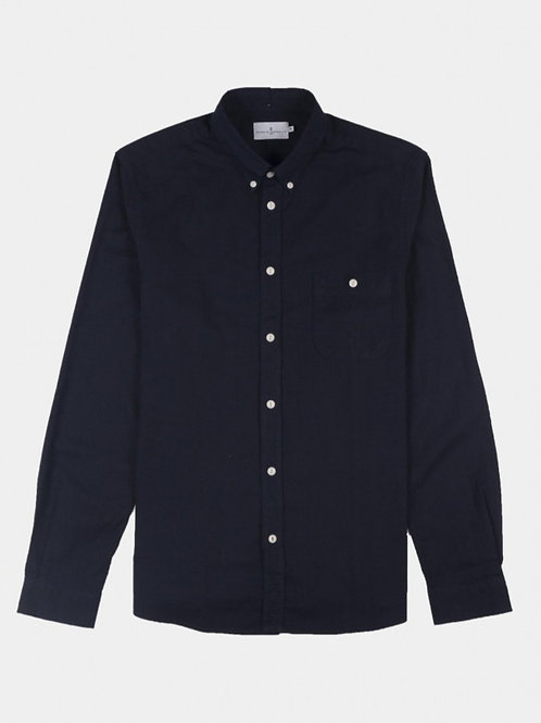 Cuisse de Grenouille dark Navy pocket shirt