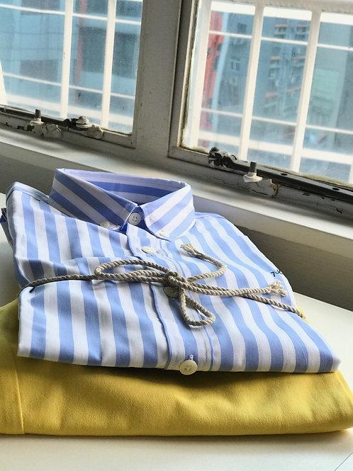 Maison Labiche Blue and White Striped Shirt