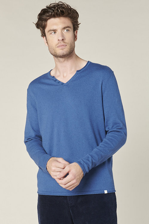 Harris Wilson cotton and wool blue pullover