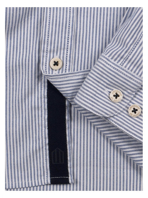 Cuisse de Grenouille White and Dark Navy Oxford shirt