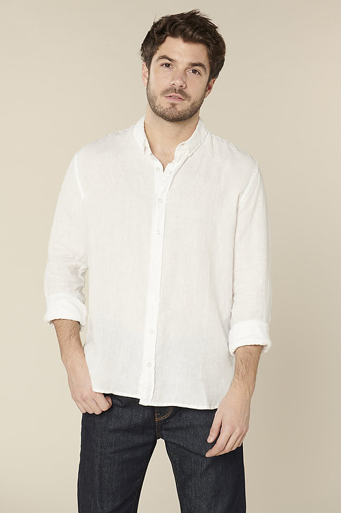 Harris Wilson White Linen Shirt