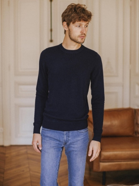 Hircus Navy Blue 100% Cashmere