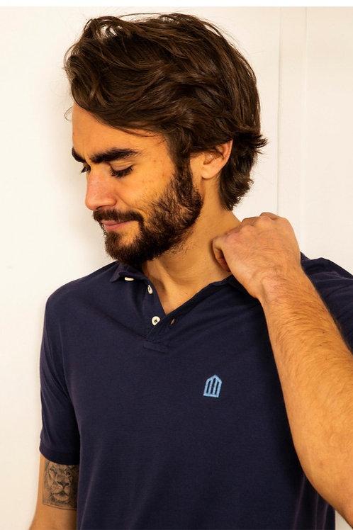 Cuisse de Grenouille Navy blue polo T shirt